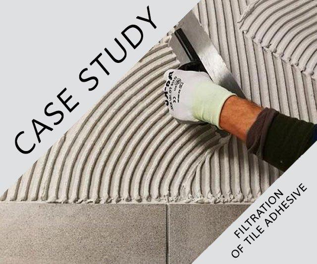 CASE STUDY: AF 43 – Filtration of tile adhesive