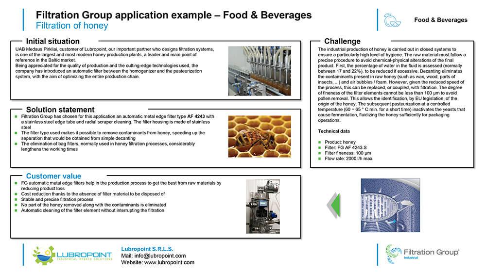 Case study filtrazione miele